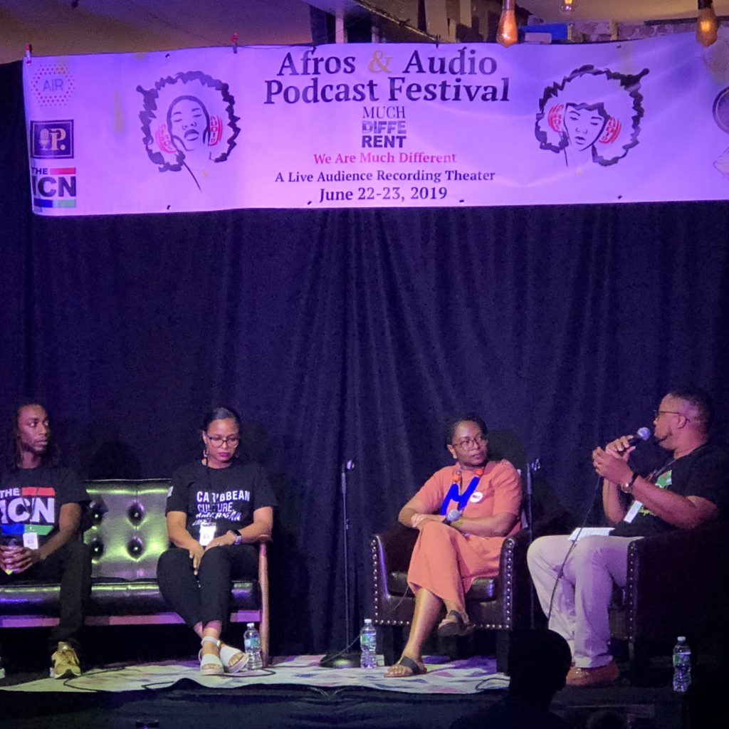 Connecting the Diaspora through Podcasting Panel at Afros & Audio